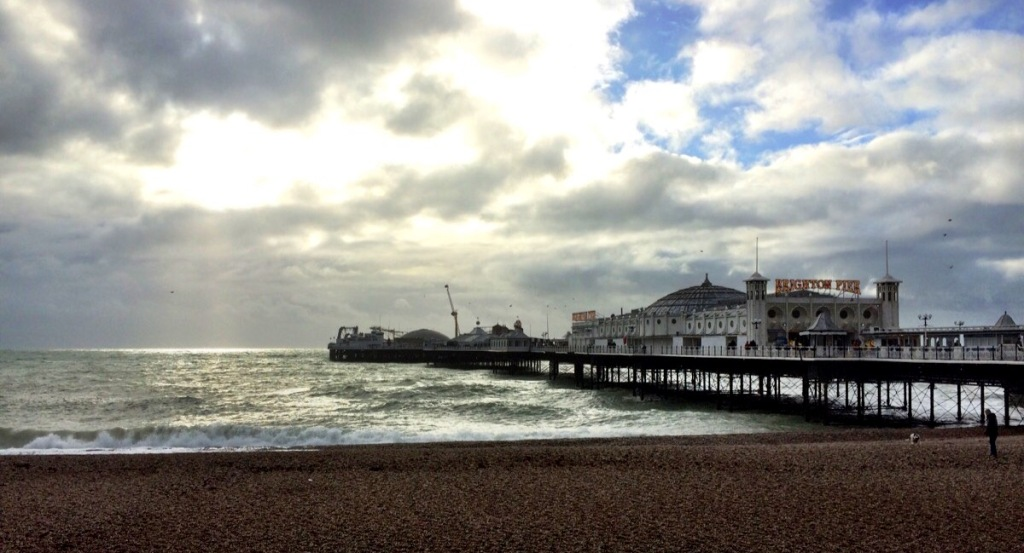 Sunlight hits Brighton