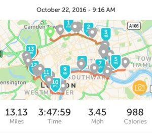 13.1 Miles of prime London walking